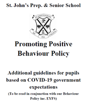COVID-19 Promoting Positive Behavour Policy